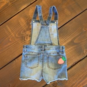 Cat & Jack Bottoms - Cat & Jack Shorts Overalls Blue Jean Patches Small